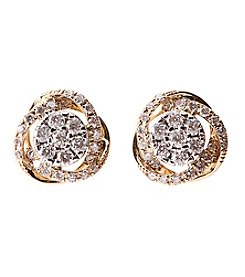 Effy 14k Two Tone 0.52 Ct. T.W. Earrings
