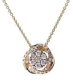 Effy 14k Two Tone 0.45 Ct. T.W. Pendant Necklace