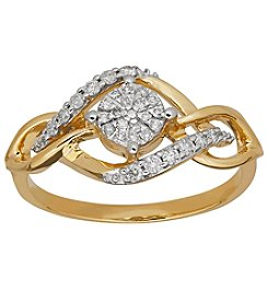 10k Yellow Gold with 0.20ct. t.w. Diamond Ring