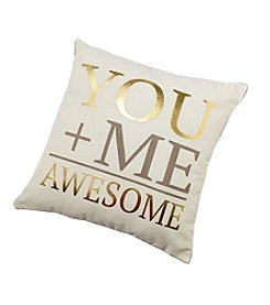 20x20 You+me Awesome Decorative Pillow