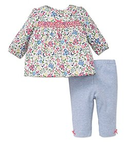 Little Me Baby Girls' Petite Floral Tunic Set