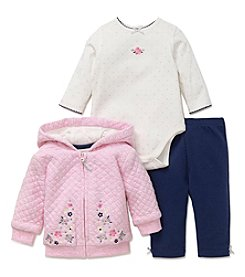 Little Me Baby Girls' Flower Dot Hoodie Set