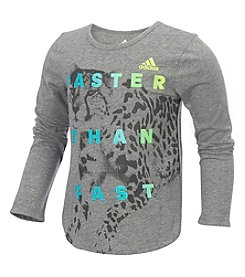 adidas® Girls' 4-6X Long Sleeve Faster Than Fast Tee