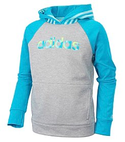 adidas Girls' 2T-6X Long Sleeve Colorblock Hooded Pullover