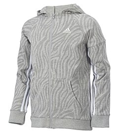 adidas® Girls' 8-16 Long Sleeve French Terry Jacket