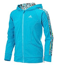 adidas® Girls' 8-16 Long Sleeve Hooded Tricot Jacket