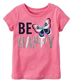 Carter's Girls' 2T-3T Short Sleeve Be Happy Tee
