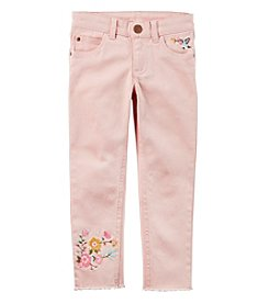 Carter's Girls' 3T-4T Floral Embroidery Pants
