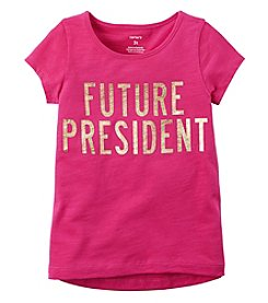 Carter's Girls' 5-8 Short Sleeve Future President Tee