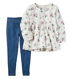 Carter's® Girls' 4-8 Long Sleeve Floral Tunic and Jeggings Set