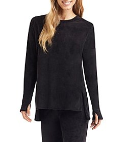 Cuddl Duds® Double Plush Velour Crew Neck Sweater
