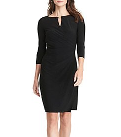 Lauren Ralph Lauren® Faux-Wrap Sheath Dress