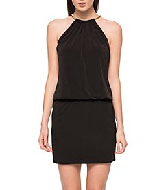 GUESS Bungee Neck Jersey Dress