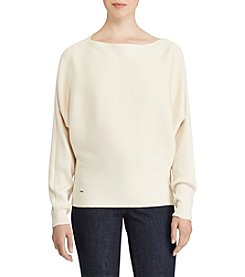 Lauren Ralph Lauren Cotton-Blend Dolman Sweater