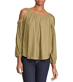 Lauren Ralph Lauren® Cold Shoulder Jersey Top