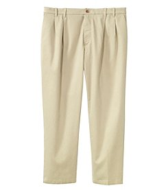 IZOD Men's Big & Tall Performance Stretch Pleated Dress Pants