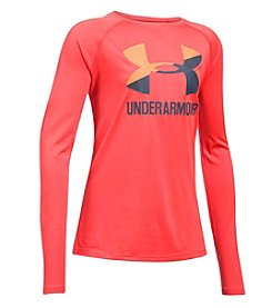 Under Armour® Girls' 7-16 Long Sleeve Big Logo Slash Tee