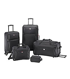American Tourister 5-pc Black Spinner Set