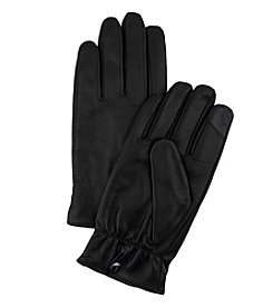 Calvin Klein Leather Snap Gloves