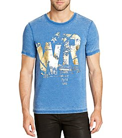 William Rast Men's Fractured Icon Short Sleeve Tee