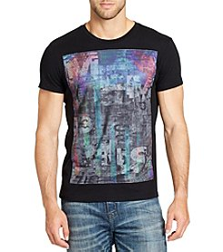 William Rast Men's Dripping Flag Short Sleeve Tee