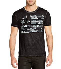 William Rast Men's Washed Flag Graphic Tee