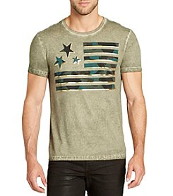 William Rast Men's Flag Short Sleeve Tee