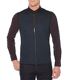 Perry Ellis Men's Big & Tall Front Ponte Quilted Vest