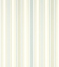 Laura Ashley Awning Stripe Pistachio Duck Egg Wallpaper