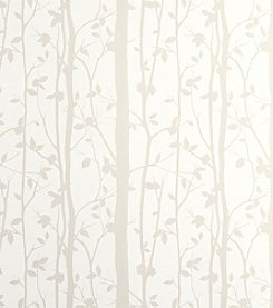 Laura Ashley Cottonwood White Wallpaper