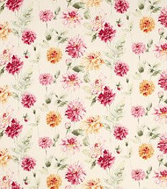 Laura Ashley Dahlia Parade Pink Grapefruit Wallpaper