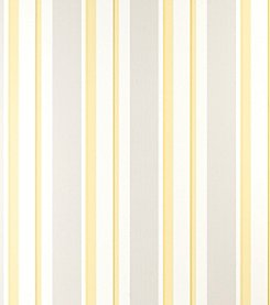 Laura Ashley Eaton Stripe Camomile Wallpaper
