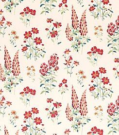 Laura Ashley Fernshaw Cranberry Wallpaper