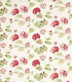 Laura Ashley Geranium Cranberry Wallpaper