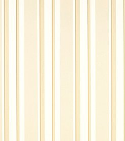Laura Ashley Eaton Stripe Gold Wallpaper