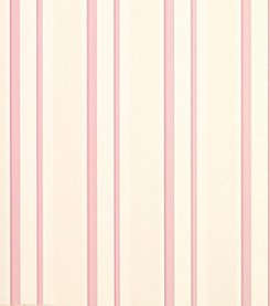 Laura Ashley Eaton Stripe Pale Cyclamen Wallpaper