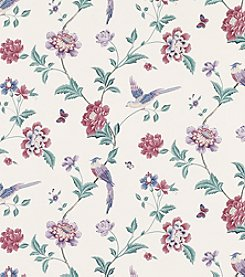 Laura Ashley Elveden Cranberry Wallpaper