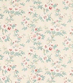 Laura Ashley Rosamond Floral Pale Cranberry Wallpaper