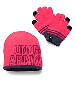 Under Armour® Girls' Beanie & Gloves set