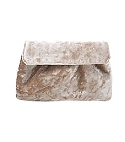 La Regale® Crushed Velvet Clutch