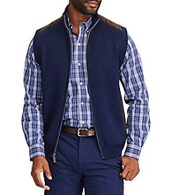 Chaps Men's Big & Tall Full ZIp Needle Vest