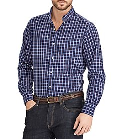 Chaps Men's Big & Tall Easy Care Woven Button Down Shirt
