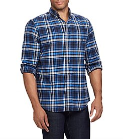 Chaps Men's Big & Tall Performance Flannel Button Down