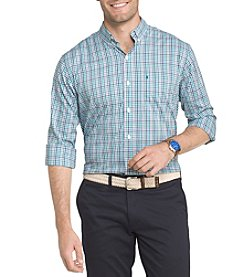 IZOD Men's Big & Tall Long Sleeve Plaid Button Down