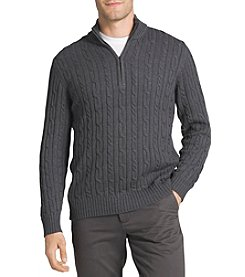 IZOD Men's Big & Tall Fieldhouse Cable Knit Pullover Sweater