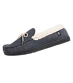 Isotoner Signature Men's Heathered Knit Moccasins