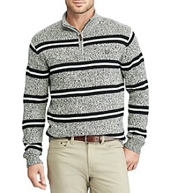 Chaps Men's Big & Tall Striped Pullover Sweater