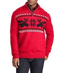 Chaps Men's Nordic Moose Print Pullover Sweater