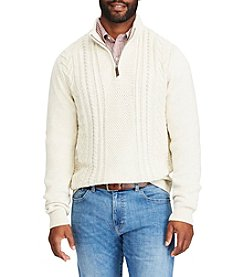Chaps Men's Fisherman Cable Pullover Sweater