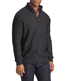Chaps Men's Mock Neck 1/4 Zip Pullover Sweater